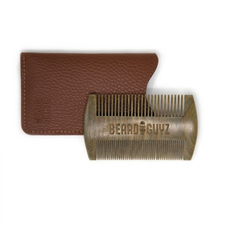 Sandalwood Comb with Genuine Leather Pouch